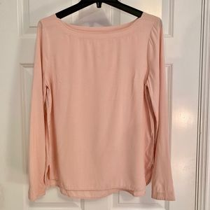 Anthropologie Maeve Dusty Pink Long Sleeve Blouse